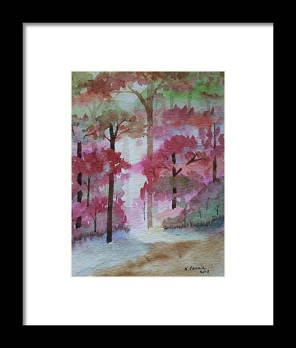 Woods Framed Print featuring the painting Autumn Song by B Kathleen Fannin