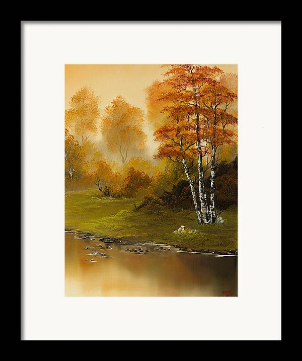Landscape Framed Print featuring the painting Autumn Splendor by C Steele