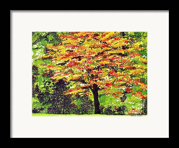 Fine Art Framed Print featuring the painting Autumn Splendor by Patricia Griffin Brett