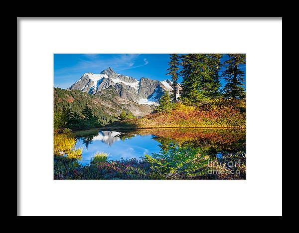 America Framed Print featuring the photograph Autumn Tarn by Inge Johnsson