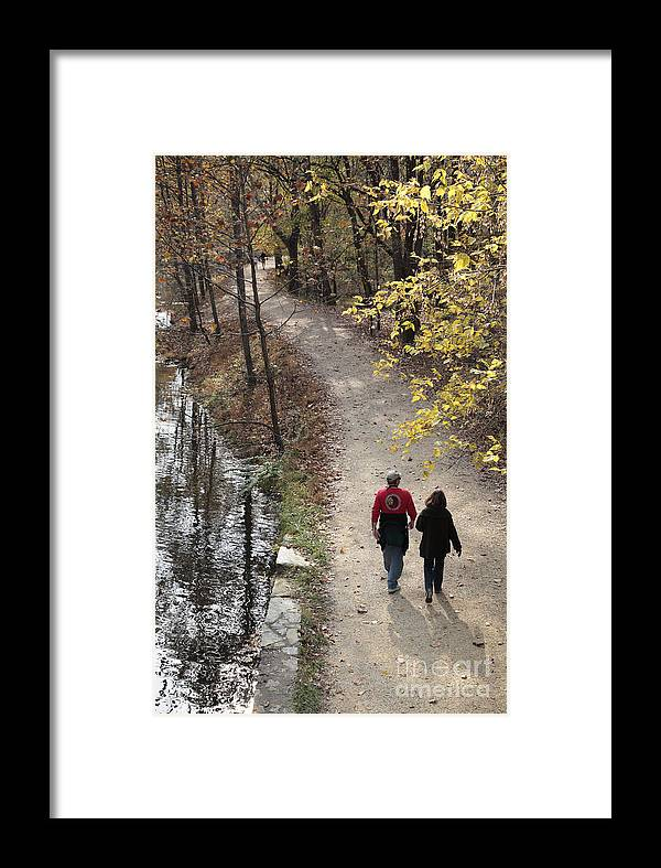Canal Framed Print featuring the photograph Autumn Walk On The C And O Canal Towpath by William Kuta