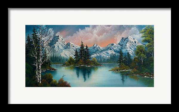 Landscape Framed Print featuring the painting Autumn's Glow by C Steele