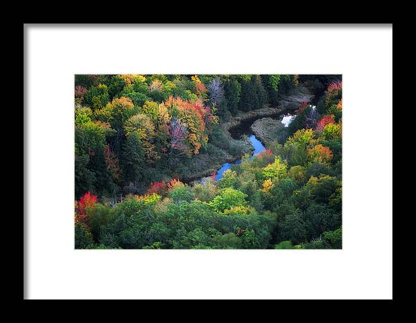 Fall Framed Print featuring the photograph Autumns Reflection by Kevin Clifford
