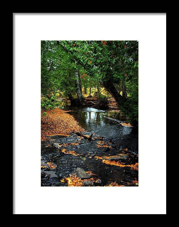 Eagle River Framed Print featuring the photograph Autumns River by Optical Playground By MP Ray