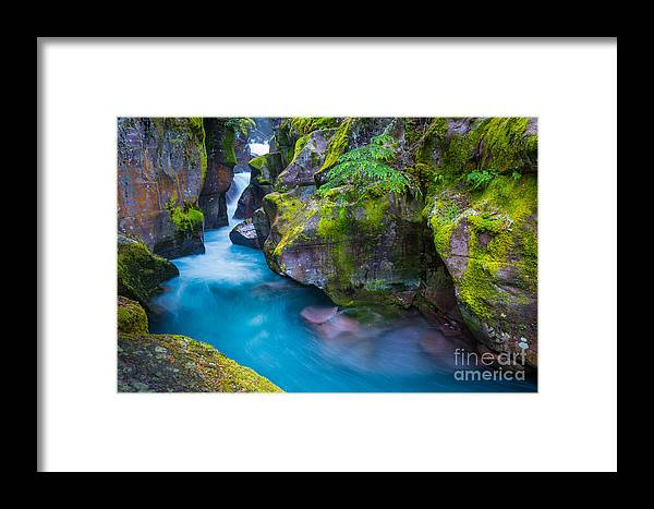 America Framed Print featuring the photograph Avalanche Creek Gorge by Inge Johnsson