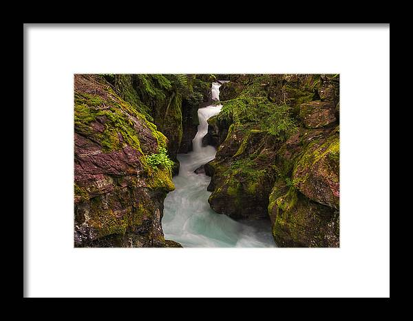 Moss Framed Print featuring the photograph Avalanche Falls by Mark Kiver