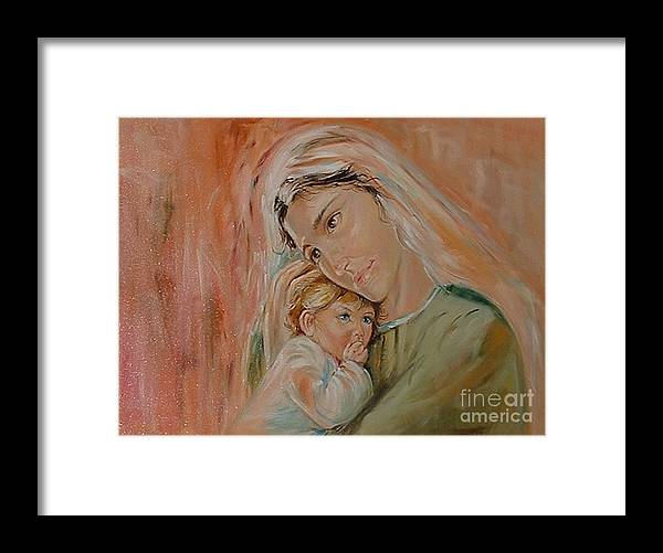 Classic Art Framed Print featuring the painting Ave Maria by Silvana Abel