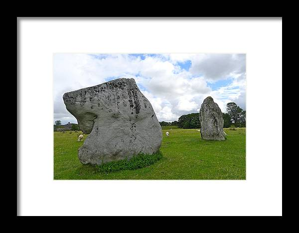 Avebury Framed Print featuring the photograph Avebury Megaliths by Denise Mazzocco
