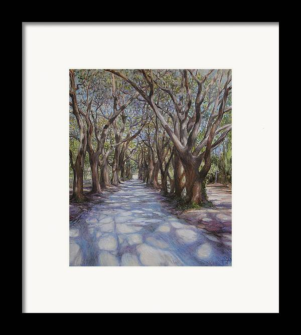 Avenue Framed Print featuring the painting Avenue Of The Oaks by Henry David Potwin
