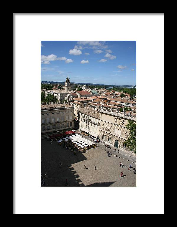 Palace Framed Print featuring the photograph Avigon Square by Christiane Schulze Art And Photography