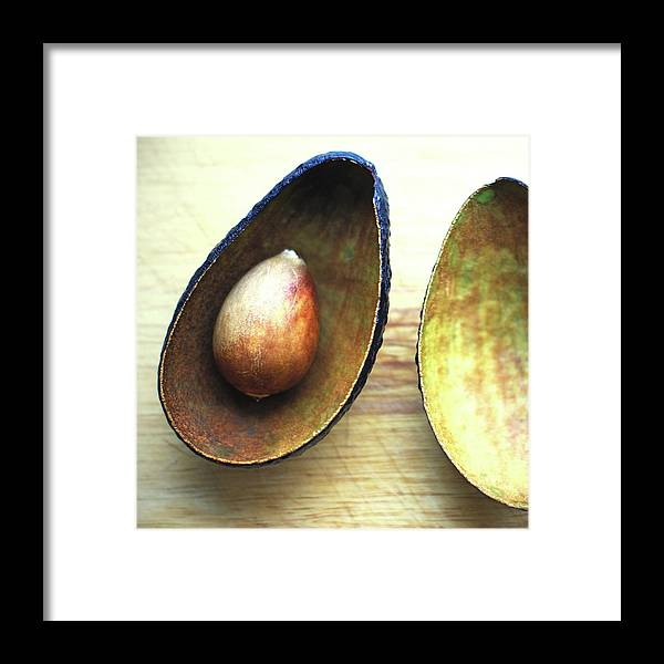 Empty Framed Print featuring the photograph Avocado by Gregoria Gregoriou Crowe Fine Art And Creative Photography.