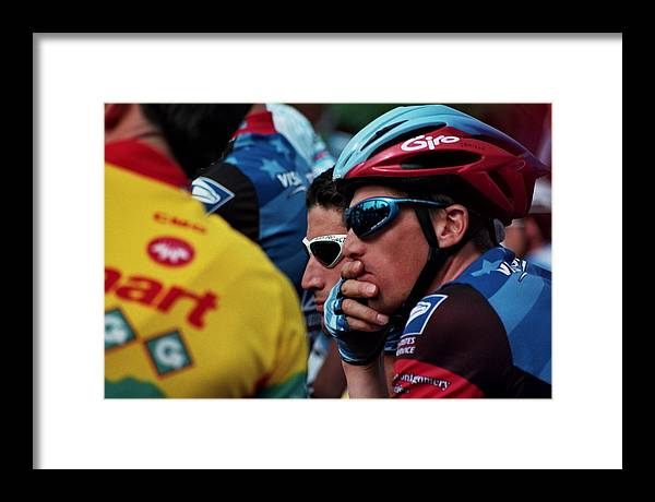 Sports Framed Print featuring the photograph Awaiting The Start by Joseph Perno