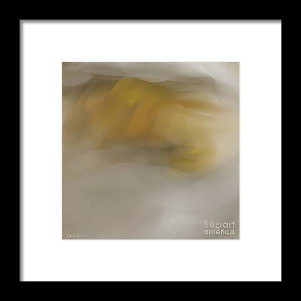 Gold Framed Print featuring the digital art Awakening By Dodick by CLICK images for pricing