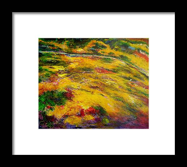 Abstract Framed Print featuring the painting Awakening by Michael Durst