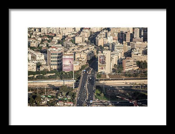 Ofir Ben Tov Framed Print featuring the photograph Ayalon Freeway And The Halacha Bridge by Ofir Ben Tov