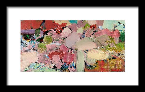 Landscape Framed Print featuring the painting Azaleas by Allan P Friedlander