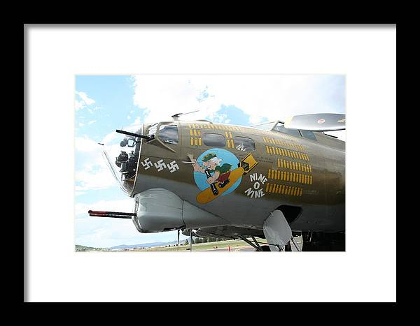 B-17 Framed Print featuring the photograph B-17 by Kathy Bauer