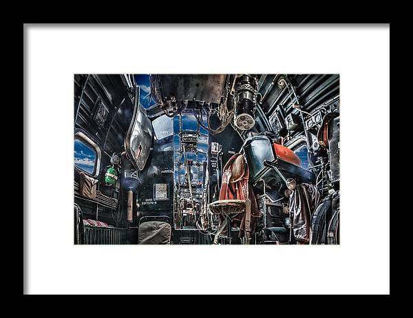 Framed Print featuring the photograph B-24 Cockpit by Mike Burgquist