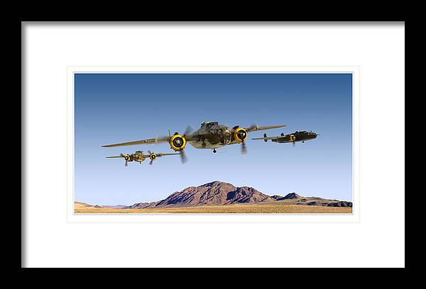 B-25 Mitchell Bomber Framed Prints Framed Print featuring the photograph B-25 Mitchell Bomber by Larry McManus