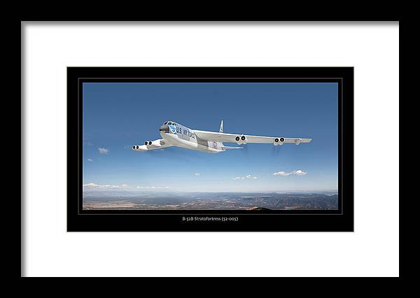 Boeing B-52 Bomber Framed Prints Framed Print featuring the photograph B-52b Stratofortress by Larry McManus