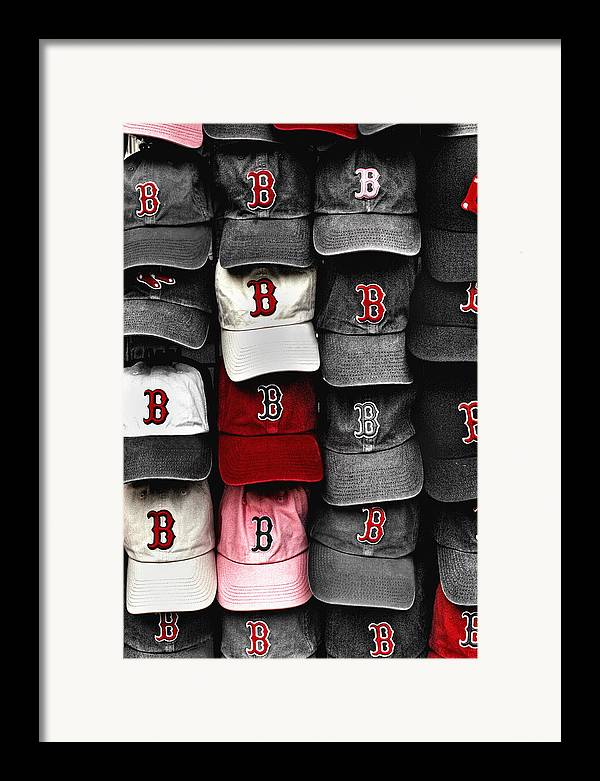 Boston Framed Print featuring the photograph B For Bosox by Joann Vitali