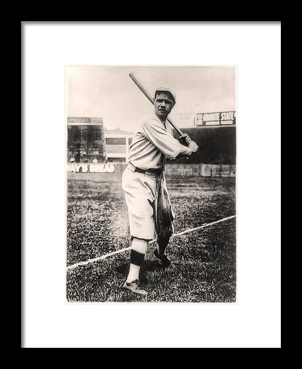 Babe Ruth Framed Print featuring the photograph Babe Ruth by Bill Cannon