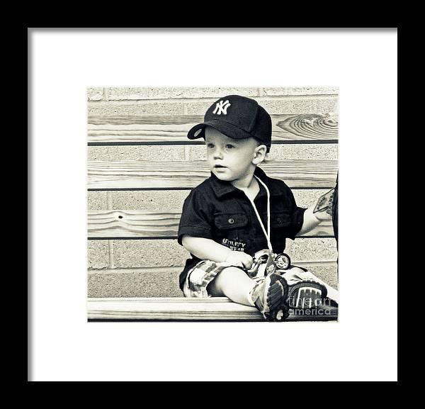 Framed Print featuring the digital art Baby Boy by Sue Rosen