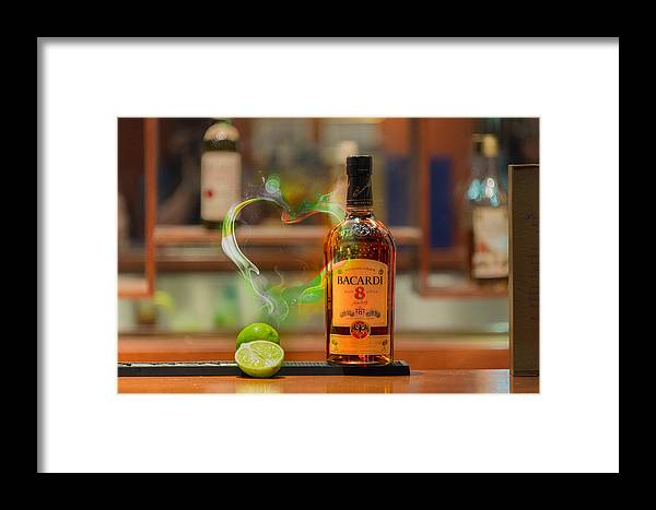 Bacardi Framed Print featuring the photograph Bacardi And Lime In Love by Gavin Baker