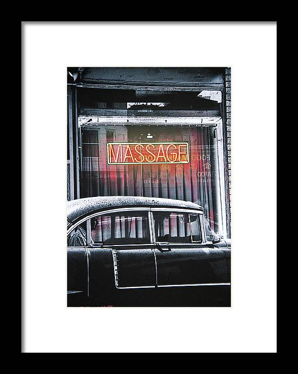 Trransportation Framed Print featuring the photograph Back Door Man by Larry Butterworth