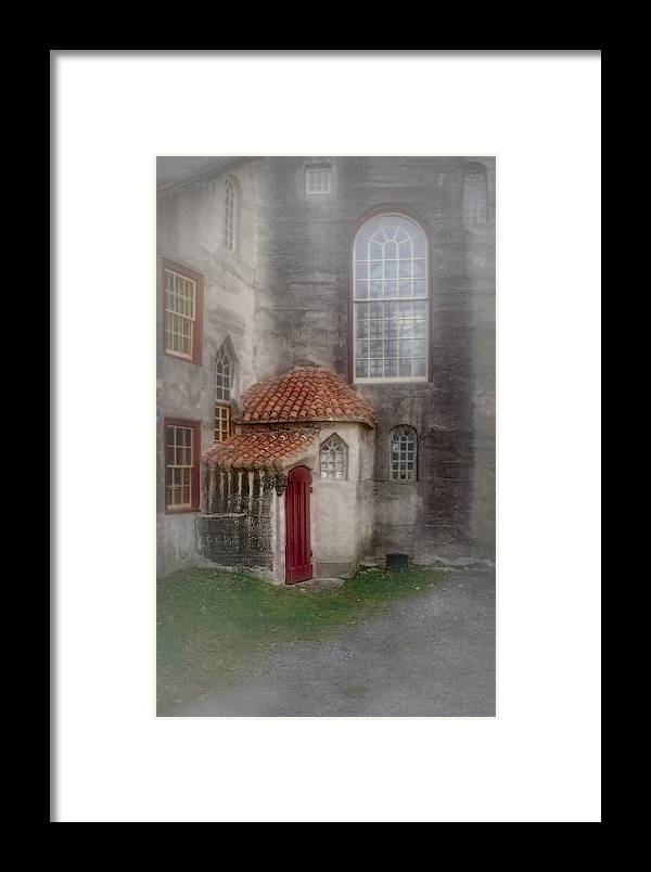 Byzantine Framed Print featuring the photograph Back Door To The Castle by Susan Candelario
