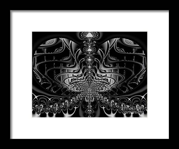 Framed Print featuring the digital art Back In Black by Dana Haynes
