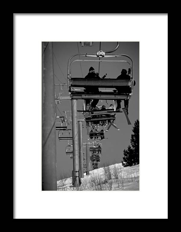 Vail Snow Ski Board Powder Nature Mountains Framed Print featuring the photograph Back In The Day by Nic Vasquez
