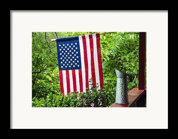 American Framed Print featuring the photograph Back Porch Americana by Carolyn Marshall