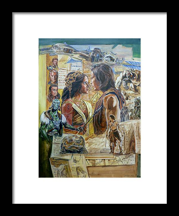 Edgar Rice Burroughs Framed Print featuring the painting Back To Mars by Bryan Bustard