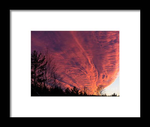 Amazing Rising Cloud Layers In My Back Yard.... Framed Print featuring the photograph Back Yard Vortex by Sue Zamecnik