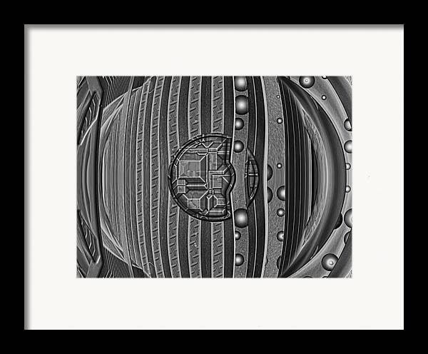 Abstract Framed Print featuring the digital art Backbeat by Wendy J St Christopher