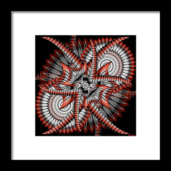 Abstract Framed Print featuring the digital art Bad Decisions New Start 2 by Brian Johnson