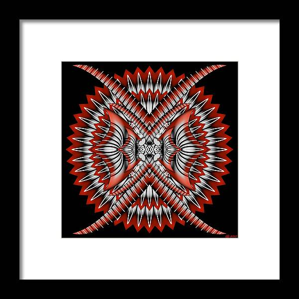Abstract Framed Print featuring the digital art Bad Decisions New Start 3 by Brian Johnson