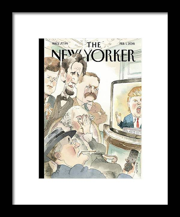 Presidents Framed Print featuring the painting Bad Reception by Barry Blitt