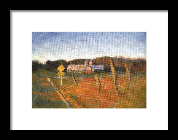 Landscape Paintings Framed Print featuring the painting Bad To The Bone by David Zimmerman