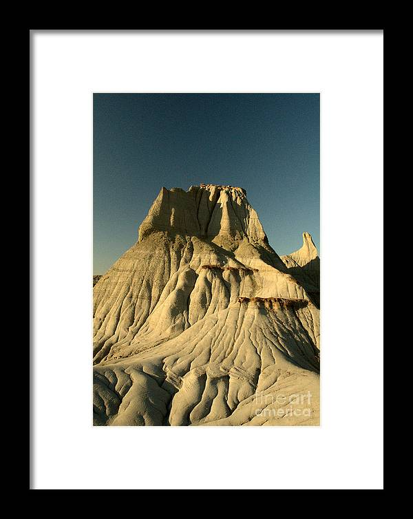 Hoodoo Framed Print featuring the photograph Badlands Hoodoo by Matthew Naiden