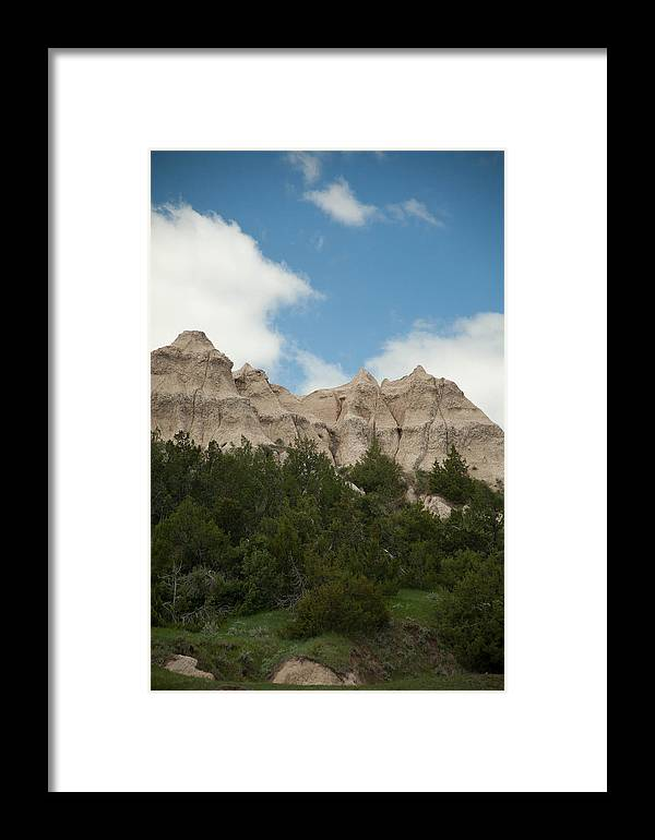 Badlands National Park Framed Print featuring the photograph Badlands National Park View by Natural Focal Point Photography