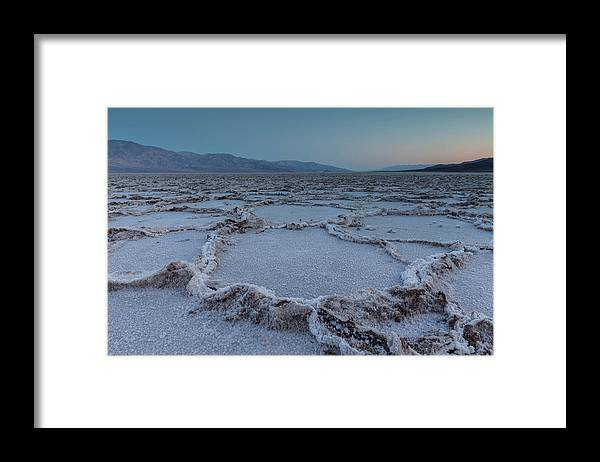 Tranquility Framed Print featuring the photograph Badwater Salt Flats by Henryk Welle