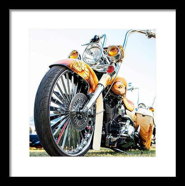 Motorcycle Framed Print featuring the photograph Bagger by David Rodriguez