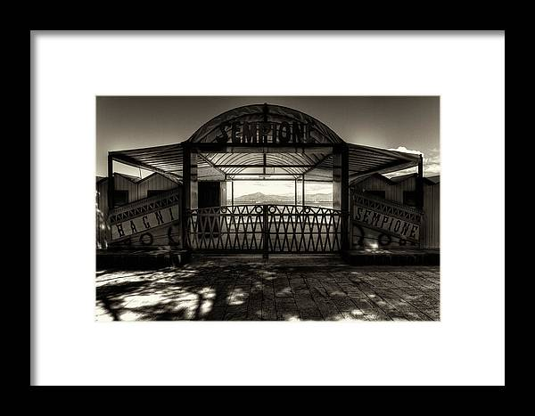B&w Framed Print featuring the photograph Bagni Sempione by Roberto Pagani
