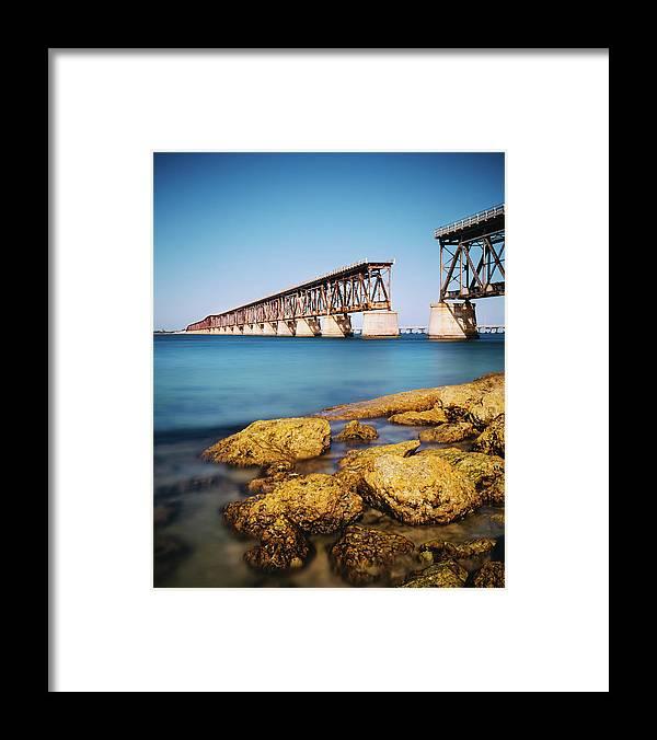 Seascape Framed Print featuring the photograph Bahia Honda State Park Florida by Ferrantraite