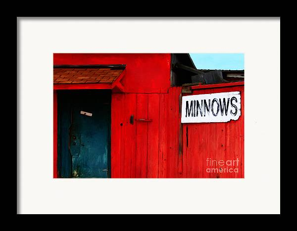 Americana Framed Print featuring the photograph Bait Shop 20130309-2 by Wingsdomain Art and Photography