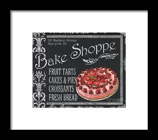 Cuisine Framed Print featuring the painting Bake Shoppe by Debbie DeWitt