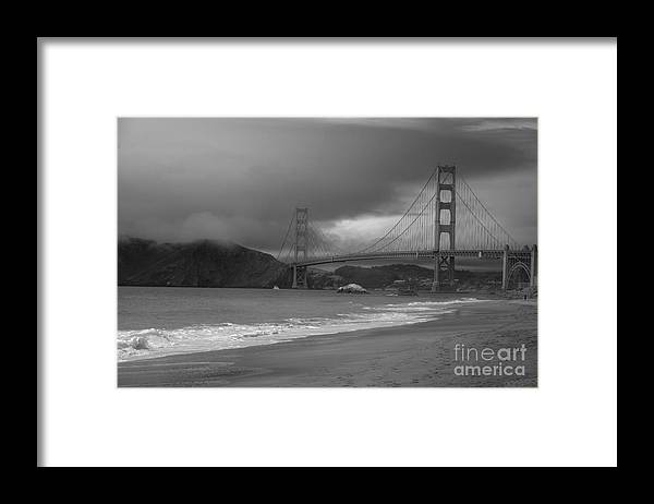 Black And White Framed Print featuring the photograph Baker Beach View by David Bearden