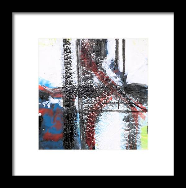 Hot Wax Framed Print featuring the painting Balance by Kathryn Kaye